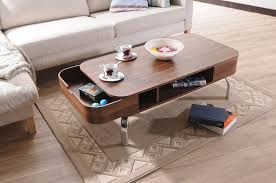 Designer Coffee Tables by Amazon Com Iohomes Luxer Coffee Table With Drawers Walnut