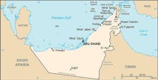 rub al khali map of the united emirates