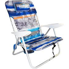 Low Beach Chair Maui U0026 Sons 4 Position Lace Up Beach Chair Hibiscus Stripe By