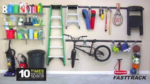 rubbermaid fasttrack garage organization system youtube