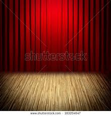 Curtains Show Open Red Curtains Stage Theater Opera Stock Vector 644541574