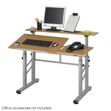 Simple Drafting Table Height Adjustable Split Level Drafting Table Safco Products