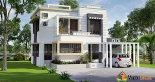 home design for 1500 sq ft square feet double floor budget villa home design