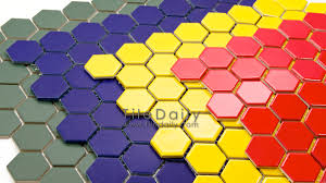 Hex Color Yellow by Hexagon Porcelain Mosaic 4 Colors U2013 Tiledaily