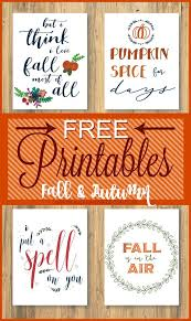 free fall printables free free printables and thanksgiving