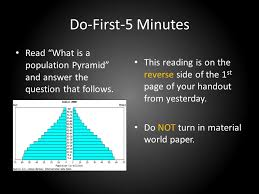 what side does a st go on do first 5 minutes read what is a population pyramid and answer