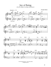 Joy Of Being Solo Piano Sheet Music By Joseph Akins - Kitchen sink music