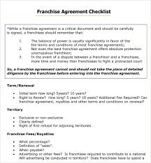 sample franchise agreement 7 documents in pdf word
