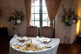 bride and groom sweetheart table diego wedding reception venue with romantic sweetheart table for