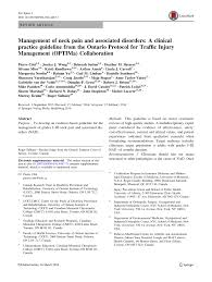 management of neck pain and associated disorders a clinical