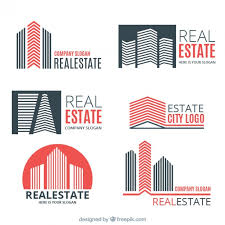 coloured templates coloured real estate logo templates vector free download