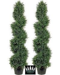 sale 2 rosemary topiary tree artificial outdoor 4 spiral