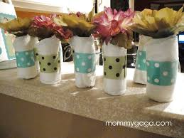 Diaper Centerpiece For Baby Shower by Homemade Baby Shower Centerpiece Ideas Mini Baby Diaper Rolls