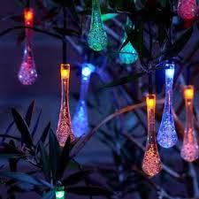 solar string lights auraglow set of 20 teardrop garden outdoor led solar