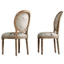 chaises medaillon chaise médaillon en chêne et