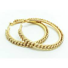 hoop earrings gold id chain hoop earrings bloom jewelry bloom jewelry
