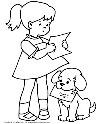 pet dog coloring pages free printable pet mail dog coloring
