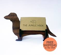 Creative Business Card Holders For Desk Dachshund Business Card Holder For Desk Wiener Dog Handmade
