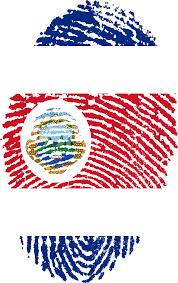 Flag Costa Rica Costa Rica Flag Fingerprint Picpng