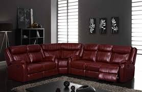 Motion Recliner Sofa by U9303 Motion Sectional Sofa In Burgundy By Global