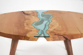 Buy Coffee Table Uk The River Collection Unique Wood And Glass Tables By Greg Klassen