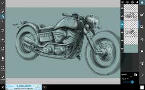 tutorial how to draw a motorcycle with picsart drawing tools