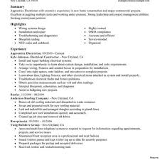electrician resume exles apprenticeship electrician resume for applying electrical