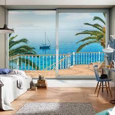 Fototapete Schlafzimmer Blau Trendfarbe Blau