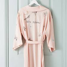 dressing gown bridal wedding dressing gown kimono personalised by mini lunn