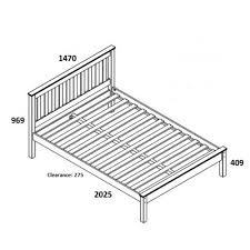 double bed frame size susan decoration