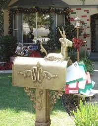 Christmas Mailbox Decorations Diy by 146 Best Christmas Mailbox Images On Pinterest Santa Mailbox