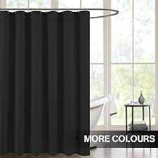 And Black Fabric For Curtains Antibacterial Waterproof Shower Curtains For Bathroom
