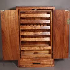 Wall Mount Jewelry Cabinet Wall Mounted Koa Jewelry Cabinet