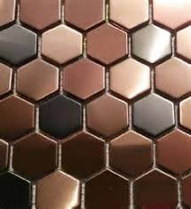 11sf hexagon mosaic tile copper rose gold black stainless steel