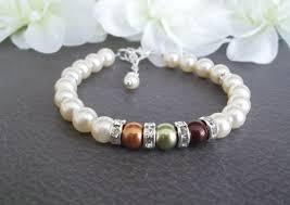 mothers birthstone bracelet mothers bracelet grandmother s bracelet swarovski pearl birthstone