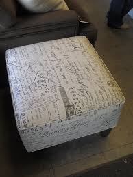 Ottoman Sale For Sale Custom Cotton Signature Ottoman It S Bout Time