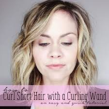 best curling wands for short hair how to curl short hair with a curling wand get those beachy waves