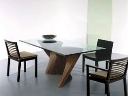 Glass Wood Dining Room Table Dining Room Minimalist Dining Room Combined With Wooden Dining