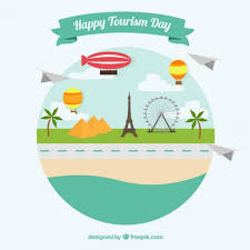 monuments for landscape with monuments for a happy tourism day vector free