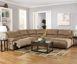 astounding ashley furniture leather sectional recliner images of