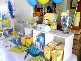 minion baby shower i like the different levels they created baby shower ideas
