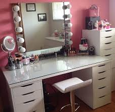 White Vanity Table With Drawers Fantastic Makeup Vanity Table With Drawers With Furniture Square