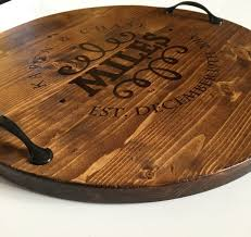personalized serving tray personalized serving tray wine barrel tray personalized wood
