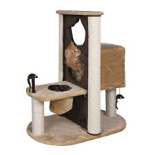 Trixie Cat Hammock by Miller U0027s Cats 24 In Brown Plush Cat Tree With Sisal 1012