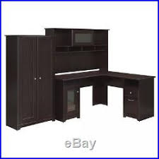 Computer Hutch Desk With Doors Office Corner Workstation Desk With Computer Hutch And 2 Door Tall