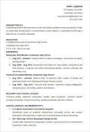 sle of resume for high school student for a successjobss asia s portal