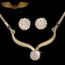 fashion necklace aliexpress images Vintage fashion rhinestone gold color plated jewelry sets bridal jpg