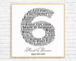 6 year anniversary gift ideas for personalized 6th anniversary gift word printable