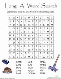 long vowel word searches education com