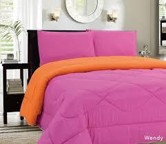 down alternative reversible comforter pink orange blowoutbedding com